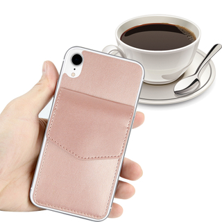 Back Cover Pouch Leather Adhesive Sticker Card Holder for Mobile Phone For iPhone XR Case