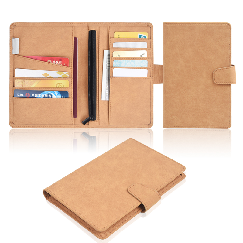 Factory OEM Wholesale Practical Custom Travel Passport Holder Leather Passport Cover Case Made With Pu Leather Card Slots