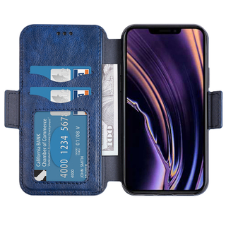 Customized Shock-absorbent Pu Leather Wallet Phone Cover Pouch For iPhone 5.8 2019 Kickstand