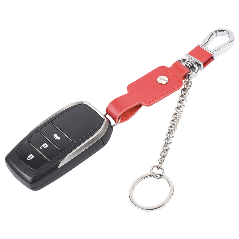 Custom Logo Personalized Promotional Car Key Chain Leather Keychain Business Leather Keyring