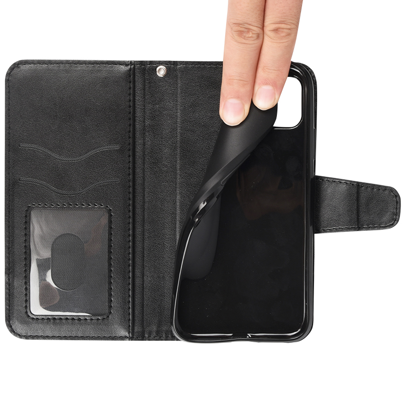Wholesale Factory Fabric-Like PU leather Flip Wallet Case Mobile Phone Case For iPhone 11