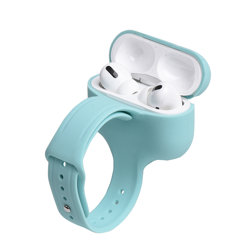 Protective Silicone Cover For AirPods Pro Case With Wrist Band Shockproof Protective For AirPods 3th Sleeve Box Wholesale