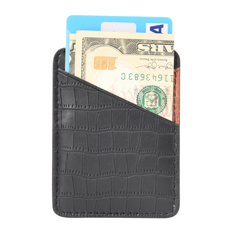 Custom Adhesive Phone Pouch,PU Leather Cell Phone Stick On Card Wallet,Credit Card Holder For Smartphones